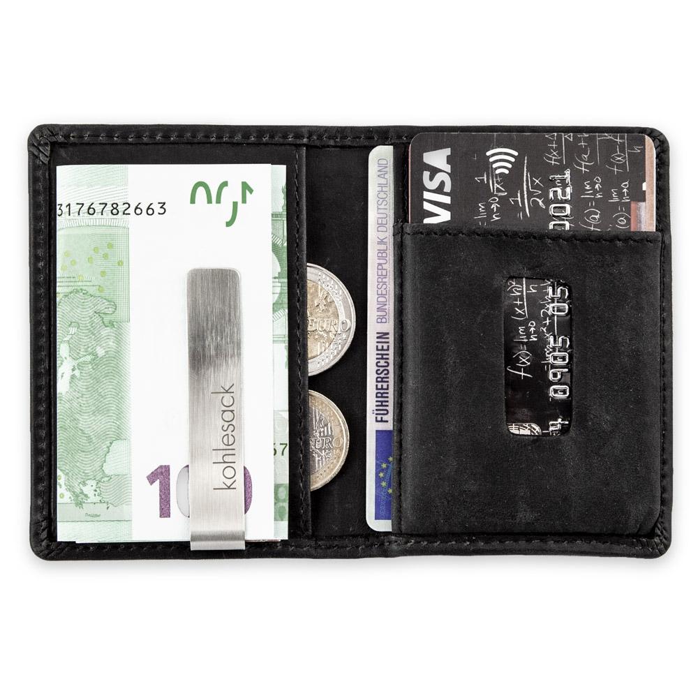 4a0db205b6432 Von der Geldklammer werden problemos mehrere Scheine sicher gehalten. In  den beidseitigen Geheimfächern kannst Du zusätzlich noch je ein Karte  reinpacken ...